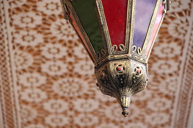 Moroccan colourful lamp