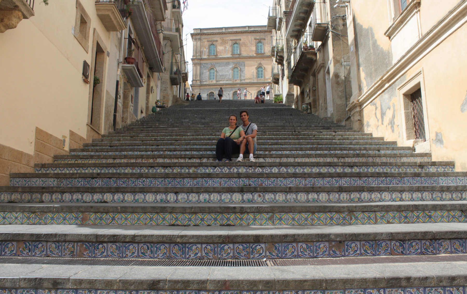 Us two in Caltagirone, Sicily