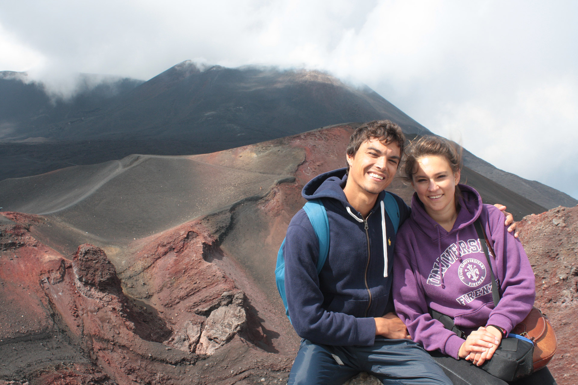 Florian and Marianna on Etna, Sicily