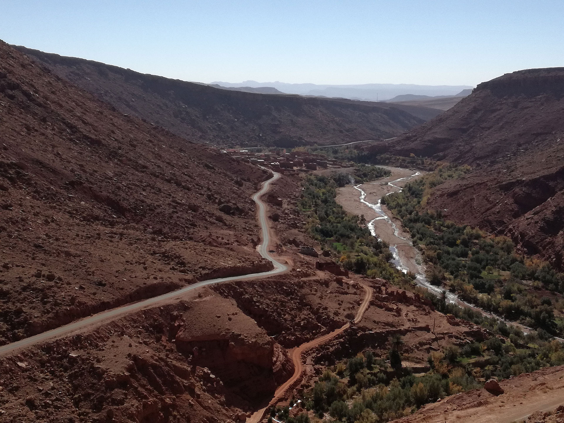 High Atlas Riverbed and road