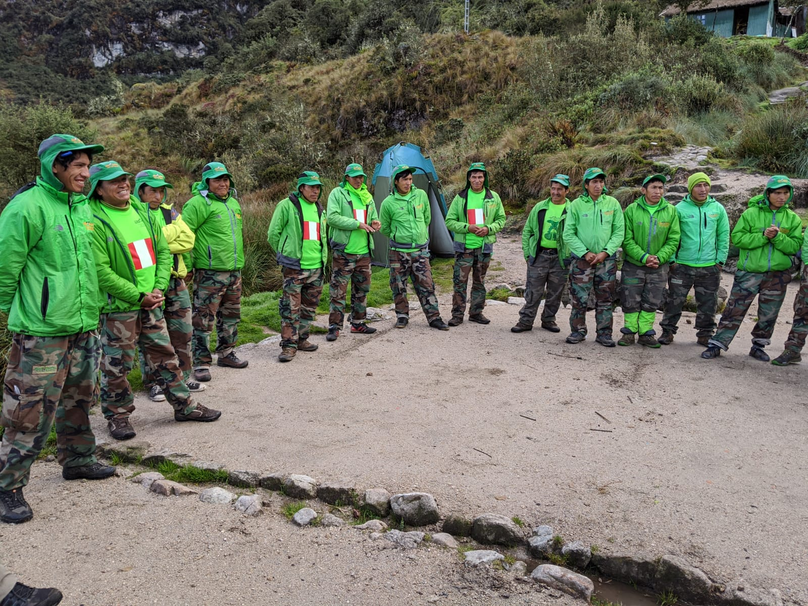 Some inca trail staff members