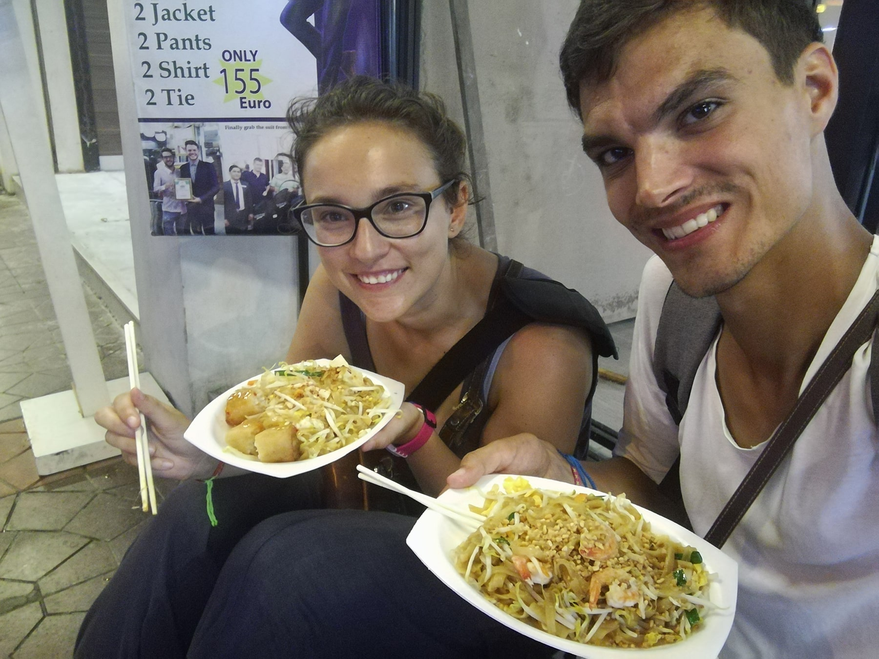 Last meal pad thai in Bangkok